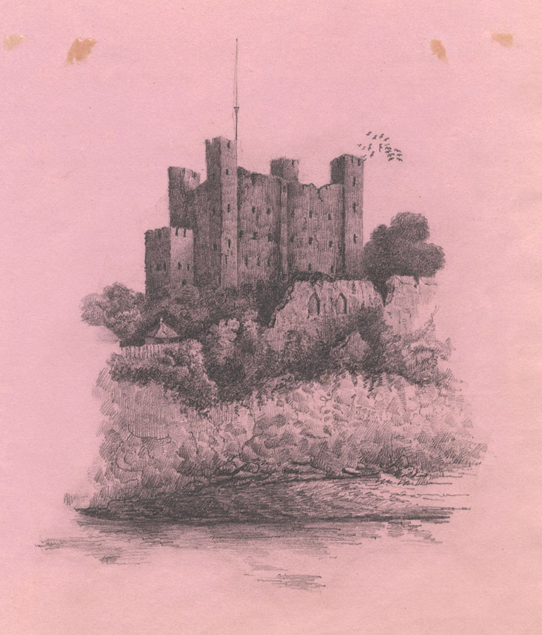 Richmond Castle - Original 1835 graphite drawing | eBay